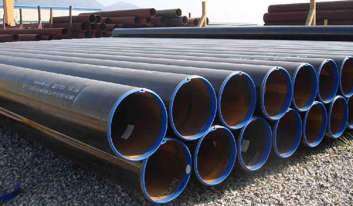 The range of steel pipes. The range of steel pipes of electrically welded