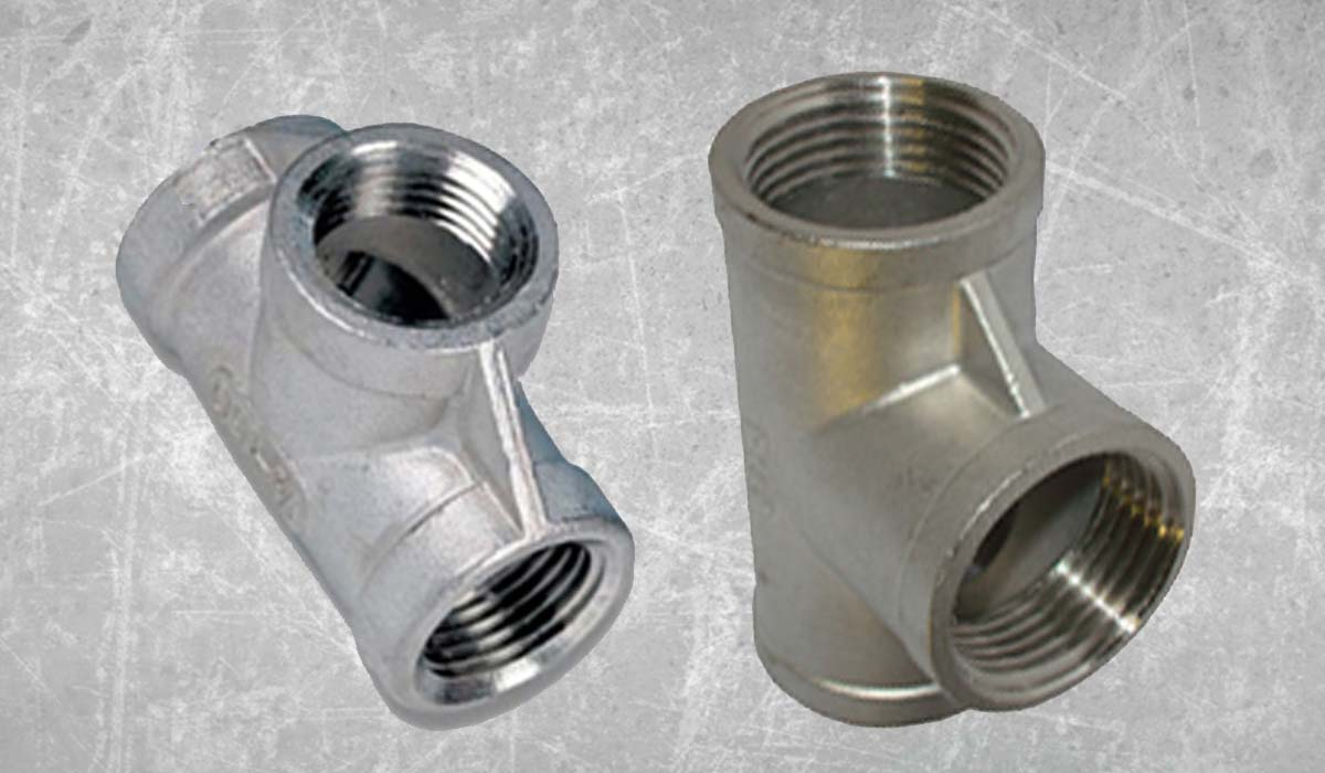 Stainless Steel Forged Threaded Tee